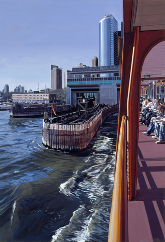 Staten Island Ferry Docking Manhattan