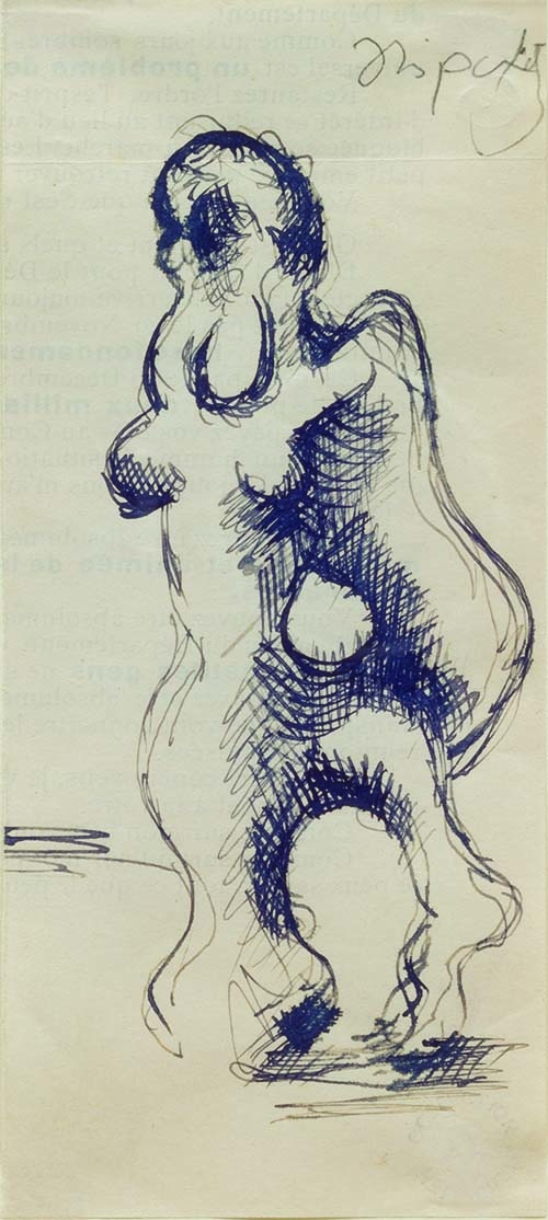 Jacques Lipchitz, Woman Leaning on a Column (Couple)