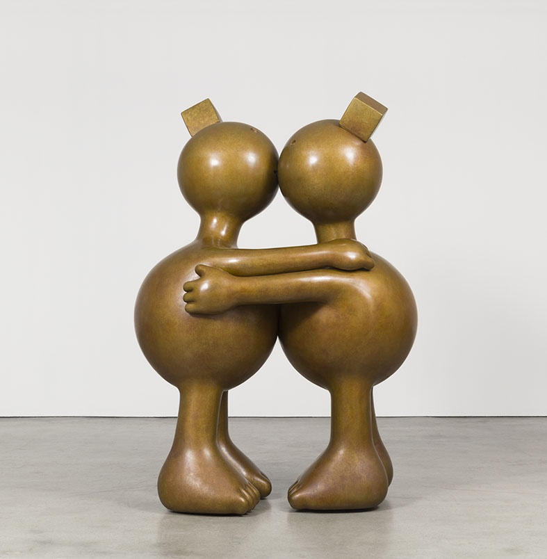 Tom Otterness, Kissing Spheres (Large)